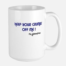 KEEP YOUR CRUMBS OFF ME! Right Hand Large Mug
