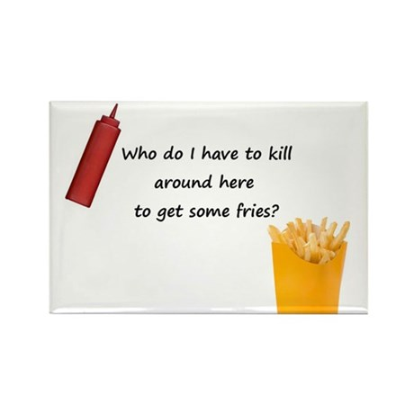 Ruby's Fries Rectangle Magnet (100 pack)