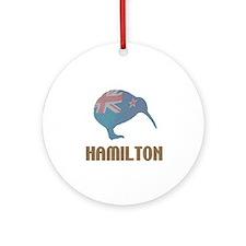Hamilton New Zealand Ornament (Round)