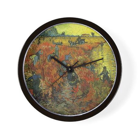 Van Gogh The Red Vineyard Wall Clock