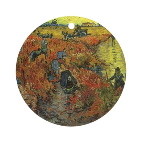 Van Gogh The Red Vineyard Ornament (Round)