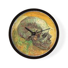Van Gogh Skull Still Life Wall Clock