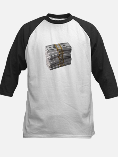 My Stack of Money Kids Baseball Jersey