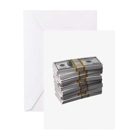 My Stack of Money Greeting Card