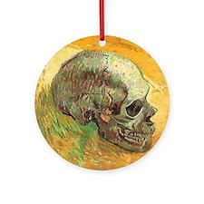 Van Gogh Skull Still Life Ornament (Round)