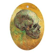 Van Gogh Skull Still Life Ornament (Oval)