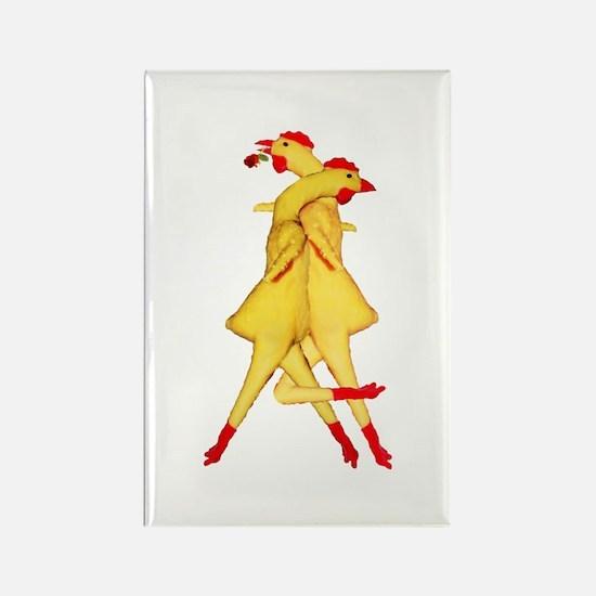 Rubber Chicken Tango Rectangle Magnet