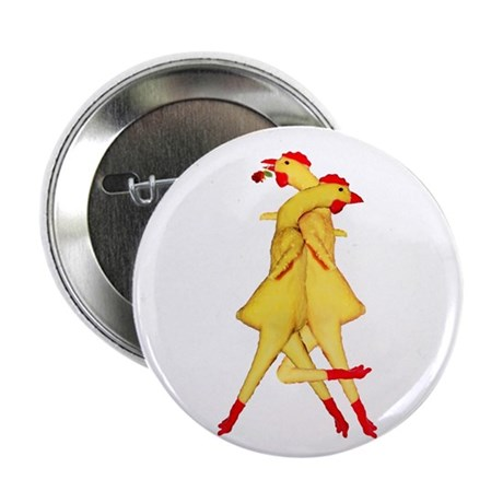 "Rubber Chicken Tango 2.25"" Button (10 pack)"