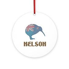 Nelson New Zealand Ornament (Round)