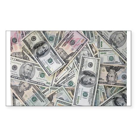 My Money Wall Rectangle Sticker