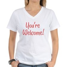 Women's You're Welcome V-Neck T-Shirt