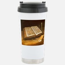 Van Gogh Still Life with Bible Travel Mug