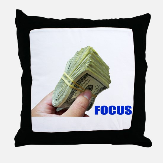 Focus on Money Throw Pillow