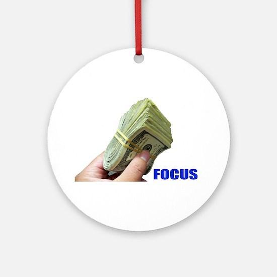 Focus on Money Ornament (Round)