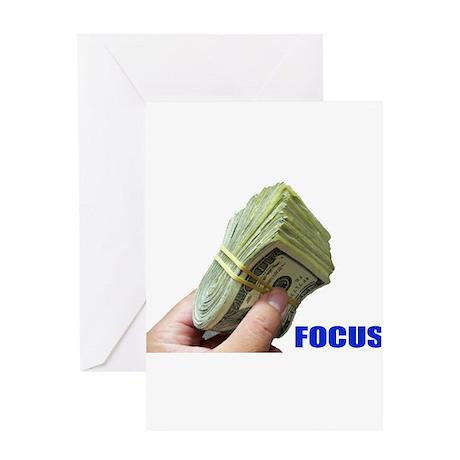 Focus on Money Greeting Card