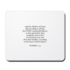 NUMBERS  2:34 Mousepad