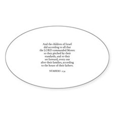 NUMBERS 2:34 Oval Decal