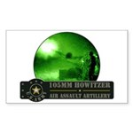 Towed Howitzer Rectangle Sticker 10 pk)