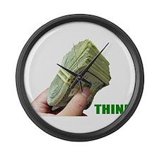 Think Money Large Wall Clock