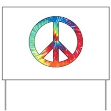 Tie Dye Rainbow Peace Sign Yard Sign