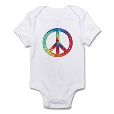 Tie Dye Rainbow Peace Sign Onesie