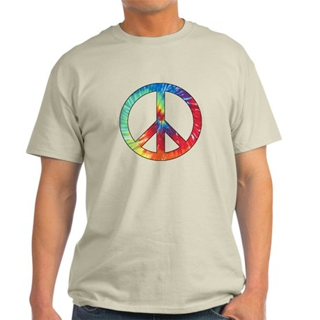 Tie Dye Rainbow Peace Sign Light T-Shirt