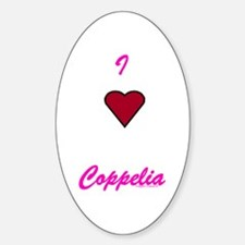 Heart Coppelia Oval Decal