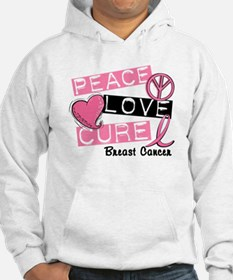 PEACE LOVE CURE Breast Cancer (L1) Hoodie