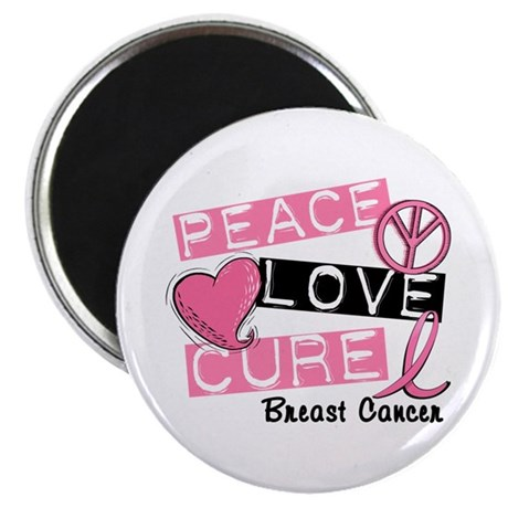 PEACE LOVE CURE Breast Cancer (L1) Magnet