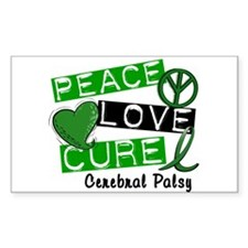 PEACE LOVE CURE Cerebral Palsy (L1) Decal