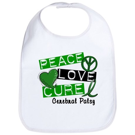 PEACE LOVE CURE Cerebral Palsy (L1) Bib