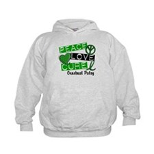 PEACE LOVE CURE Cerebral Palsy (L1) Hoodie