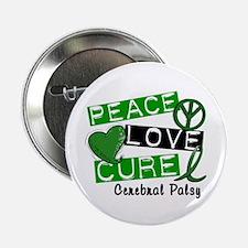 """PEACE LOVE CURE Cerebral Palsy (L1) 2.25"""" Button ("""