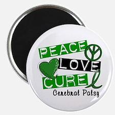 "PEACE LOVE CURE Cerebral Palsy (L1) 2.25"" Magnet ("