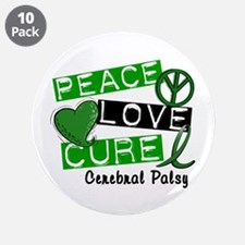 "PEACE LOVE CURE Cerebral Palsy (L1) 3.5"" Button (1"