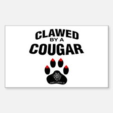 Clawed By A Cougar -- Rectangle Decal