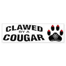 Clawed By A Cougar -- Bumper Bumper Bumper Sticker