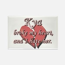 Kya broke my heart and I hate her Rectangle Magnet
