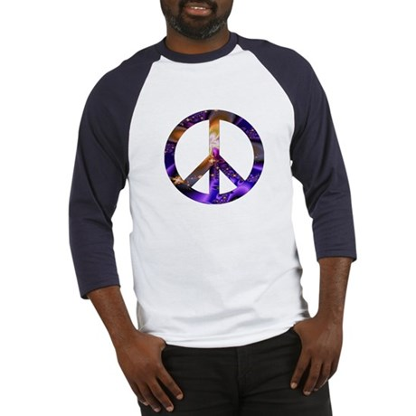 Astral Peace Sign Baseball Jersey