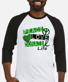 PEACE LOVE DONATE LIFE (L1) Baseball Jersey