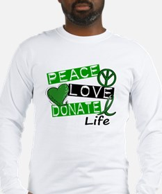PEACE LOVE DONATE LIFE (L1) Long Sleeve T-Shirt