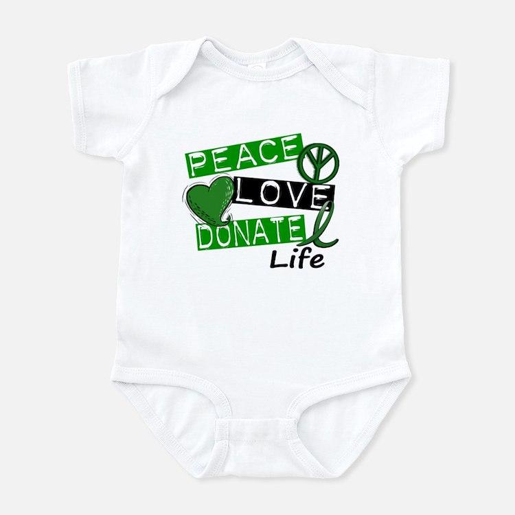 PEACE LOVE DONATE LIFE (L1) Infant Bodysuit