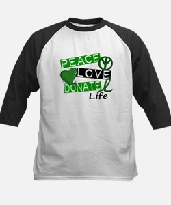 PEACE LOVE DONATE LIFE (L1) Kids Baseball Jersey