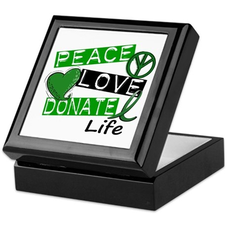 PEACE LOVE DONATE LIFE (L1) Keepsake Box
