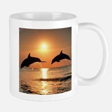 Two Dolphins Mug