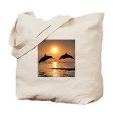 Two Dolphins Tote Bag