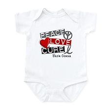 PEACE LOVE CURE Brain Cancer (L1) Infant Bodysuit