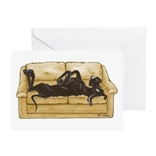 NBlk Couch Belly Greeting Card