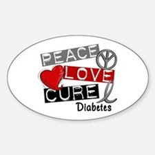 Peace Love Cure Diabetes Bumper Stickers