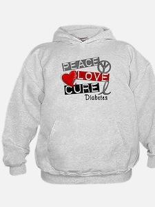 Peace Love Cure Diabetes Hoody